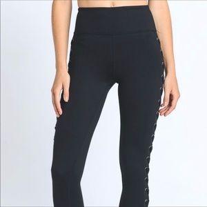 Pants - Faux Lace-up Leggings
